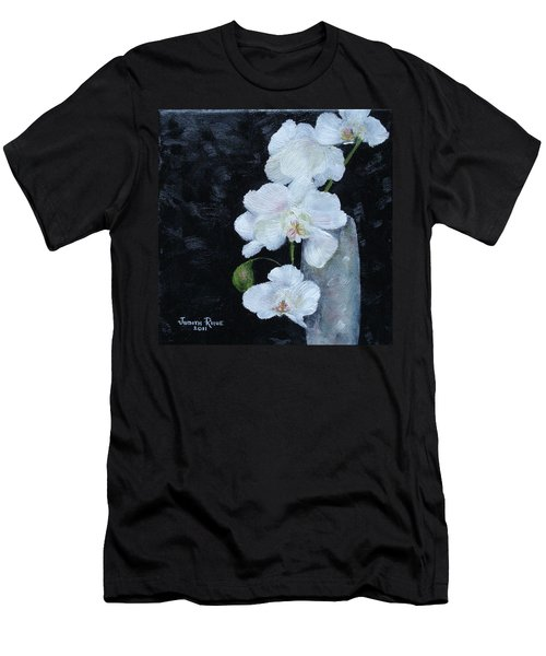 Men's T-Shirt (Athletic Fit) featuring the painting White Orchid by Judith Rhue