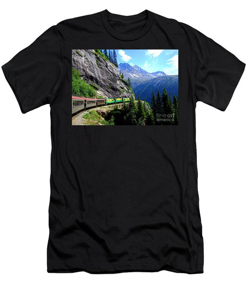 White Pass And Yukon Route Railway In Canada Men's T-Shirt (Slim Fit) by Catherine Sherman
