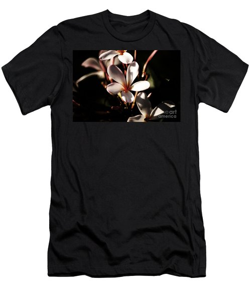 Men's T-Shirt (Slim Fit) featuring the photograph White Plumeria by Angela DeFrias