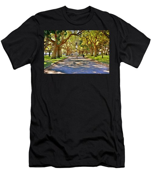 White Point Gardens At Battery Park Charleston Sc Hdr Men's T-Shirt (Athletic Fit)