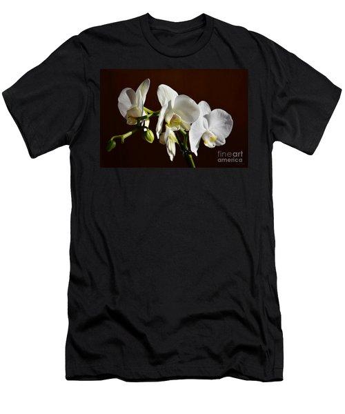 White Men's T-Shirt (Slim Fit) by Ramona Matei