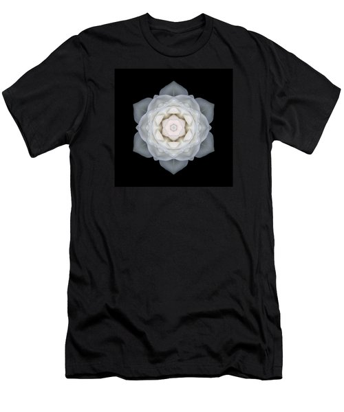 White Rose I Flower Mandala Men's T-Shirt (Athletic Fit)