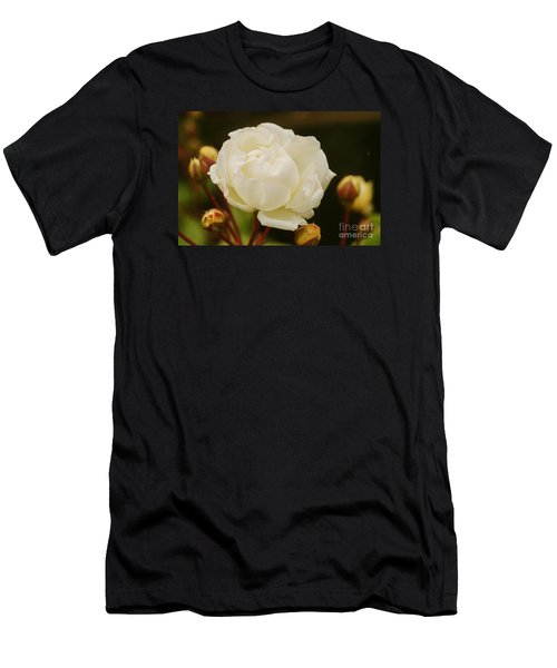 Men's T-Shirt (Slim Fit) featuring the photograph White Rose 1 by Rudi Prott