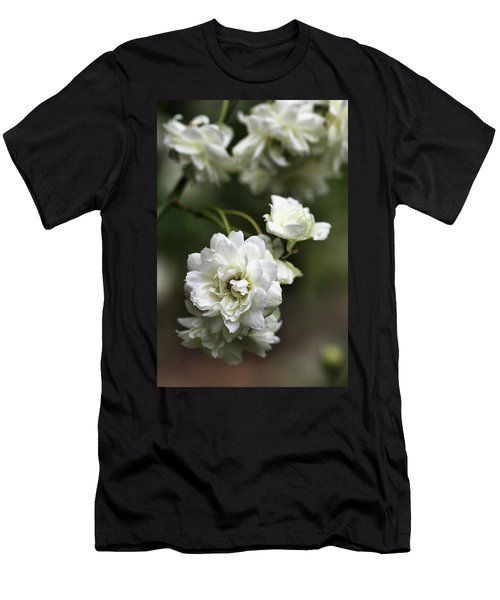 Men's T-Shirt (Slim Fit) featuring the photograph White Roses by Joy Watson
