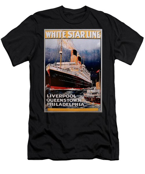 White Star Line Poster 1 Men's T-Shirt (Athletic Fit)