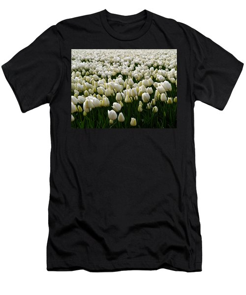 White Tulip Field  Men's T-Shirt (Athletic Fit)