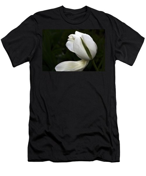 White Tulip Men's T-Shirt (Athletic Fit)