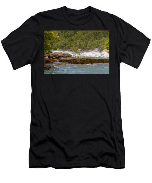 Men's T-Shirt (Athletic Fit) featuring the photograph White Water by Garvin Hunter
