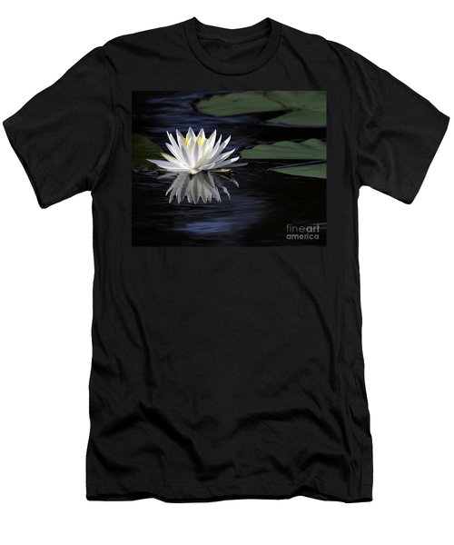 White Water Lily Left Men's T-Shirt (Athletic Fit)