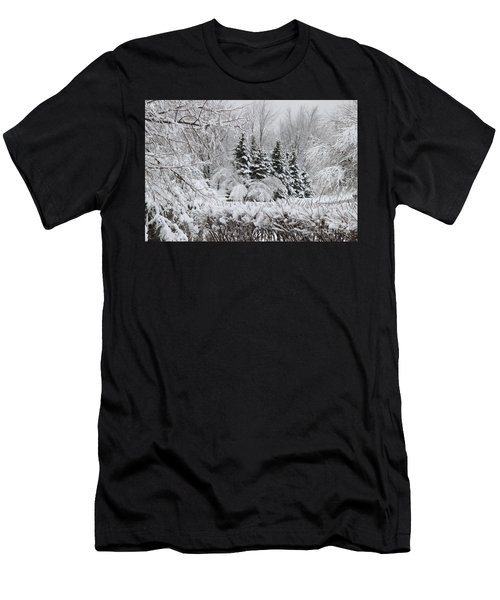 White Winter Day Men's T-Shirt (Athletic Fit)