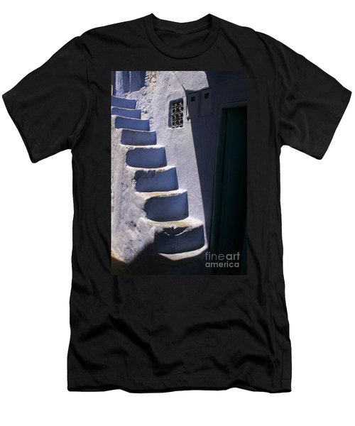 Whitewashed Steps In The Medina Of Asilah On Northwest Tip Of Atlantic Coast Of Morocco Men's T-Shirt (Athletic Fit)