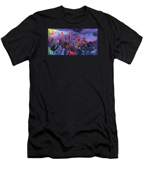 Whitewater Ramble At The Barkley Men's T-Shirt (Slim Fit) by David Sockrider