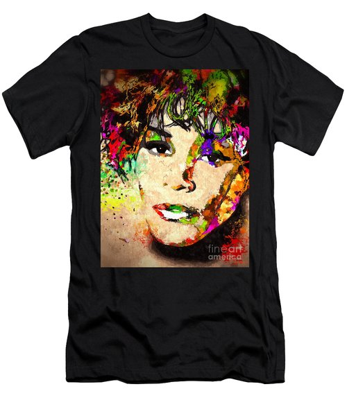 Whitney Houston Men's T-Shirt (Slim Fit) by Daniel Janda