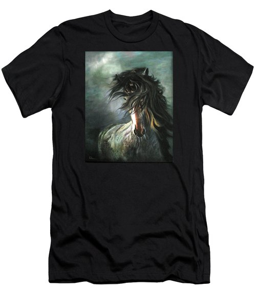 Wild And Free Men's T-Shirt (Slim Fit) by LaVonne Hand