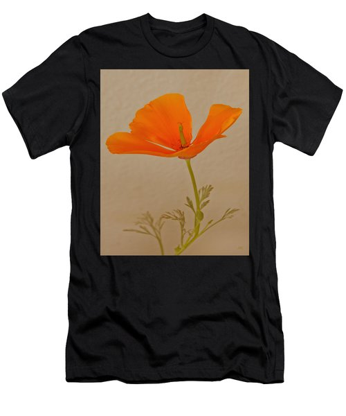 Wild California Poppy No 1 Men's T-Shirt (Athletic Fit)