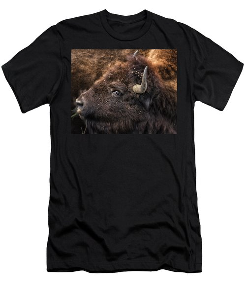 Wild Eye - Bison - Yellowstone Men's T-Shirt (Athletic Fit)