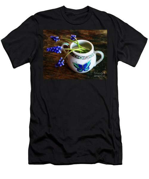 Wild Flowers In Sugar Bowl Men's T-Shirt (Slim Fit) by Lainie Wrightson