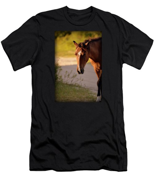 Men's T-Shirt (Slim Fit) featuring the photograph Wild Shadows by Amanda Vouglas