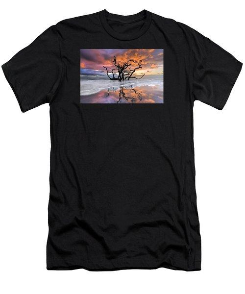 Wildfire Men's T-Shirt (Slim Fit) by Debra and Dave Vanderlaan