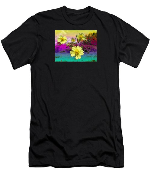 Wildflower Abstract Men's T-Shirt (Athletic Fit)
