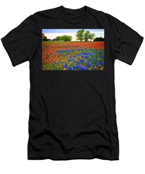 Wildflower Tapestry Men's T-Shirt (Athletic Fit)