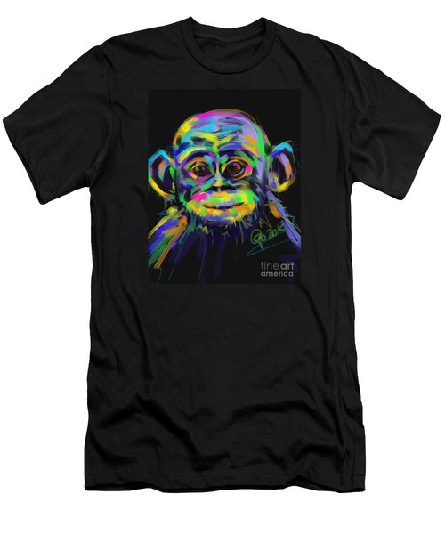 Wildlife Baby Chimp Men's T-Shirt (Athletic Fit)