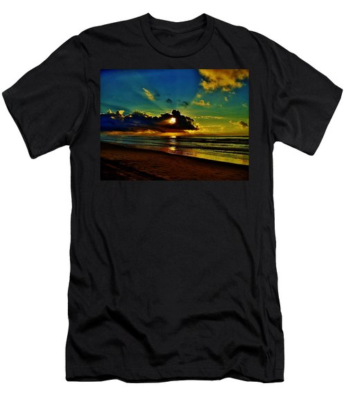 Men's T-Shirt (Slim Fit) featuring the photograph Wildwood Sunrise by Ed Sweeney