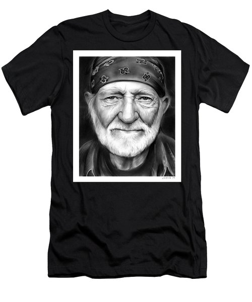 Willie Nelson Men's T-Shirt (Slim Fit) by Greg Joens
