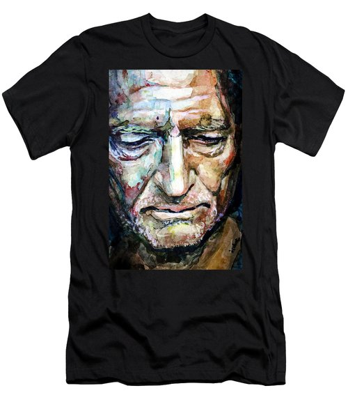 Willie Nelson  Portrait Men's T-Shirt (Slim Fit) by Laur Iduc