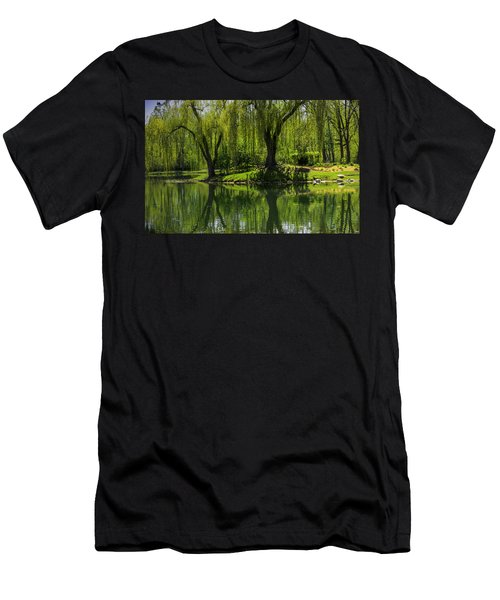 Willows Weep Into Their Reflection  Men's T-Shirt (Athletic Fit)