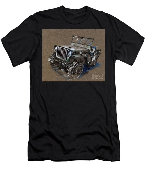 Willys Car Drawing Men's T-Shirt (Athletic Fit)