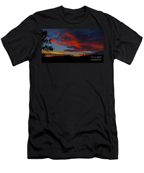 Black Hills Sunset Men's T-Shirt (Athletic Fit)