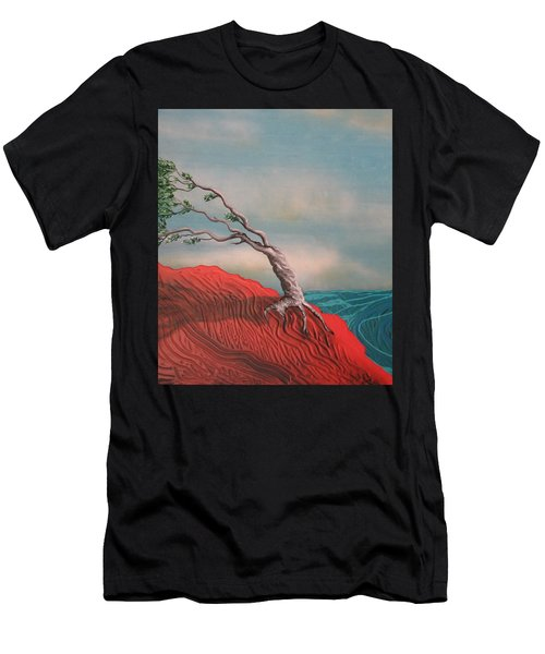 Wind Swept Tree Men's T-Shirt (Athletic Fit)
