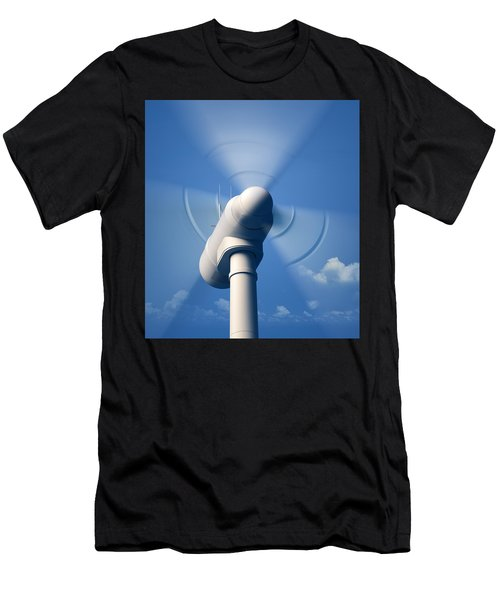 Wind Turbine Rotating Close-up Men's T-Shirt (Athletic Fit)