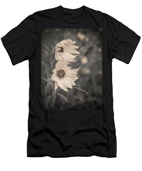 Windblown Wild Sunflowers Men's T-Shirt (Athletic Fit)