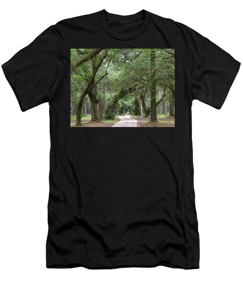 Winding Dirt Road Men's T-Shirt (Athletic Fit)