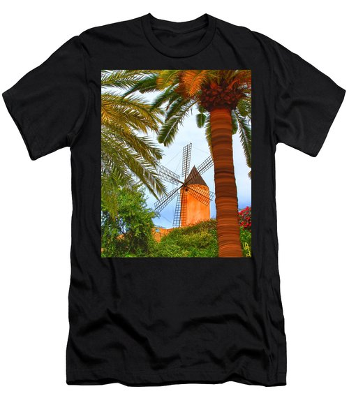 Windmill In Palma De Mallorca Men's T-Shirt (Athletic Fit)