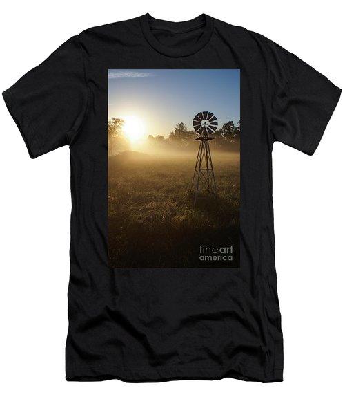 Windmill In The Fog Men's T-Shirt (Slim Fit) by Jennifer White