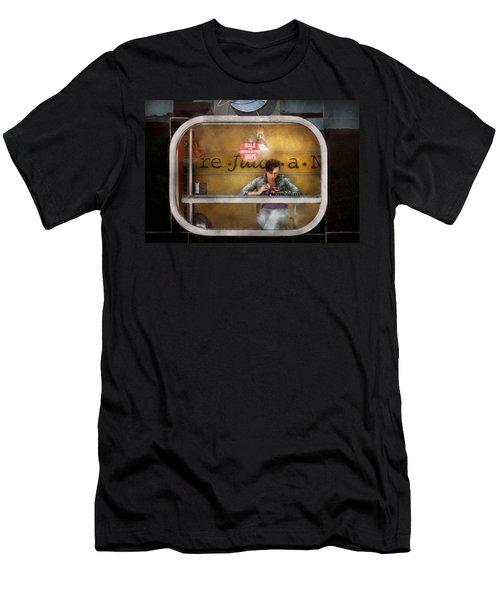 Window - Hoboken Nj - Hale And Hearty Soups  Men's T-Shirt (Athletic Fit)