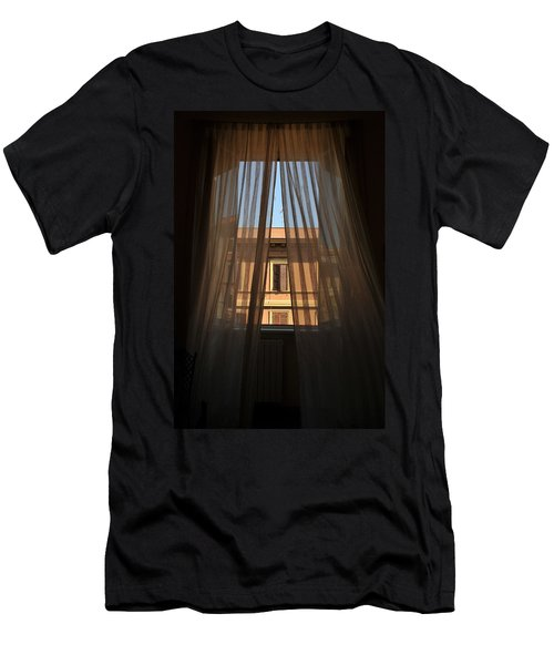 Window On Rome Men's T-Shirt (Athletic Fit)