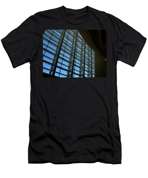 Men's T-Shirt (Slim Fit) featuring the photograph Window Wall At The Adrienne Arsht Center by Greg Allore