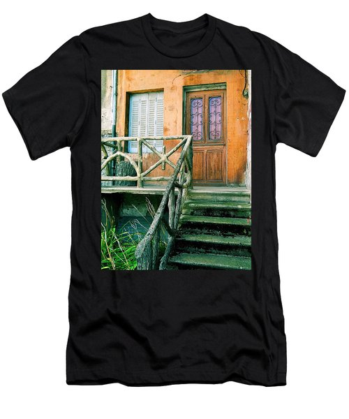 Men's T-Shirt (Slim Fit) featuring the photograph Windows And Doors 25 by Maria Huntley