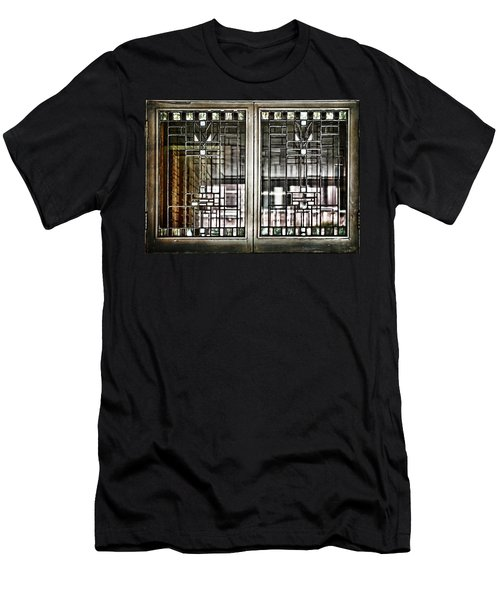 Windows Of A Prairie House  Men's T-Shirt (Athletic Fit)