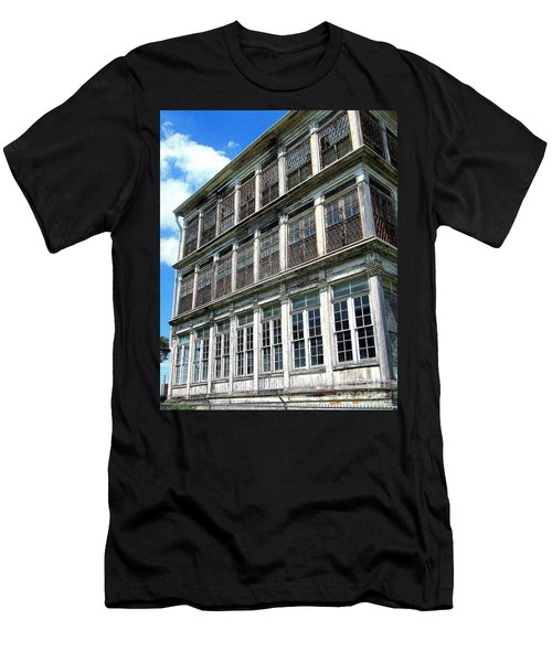 Lunatic Asylum Windows  Men's T-Shirt (Slim Fit) by Peter Gumaer Ogden