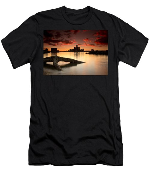 Windsor And Detroit Sunset Men's T-Shirt (Athletic Fit)