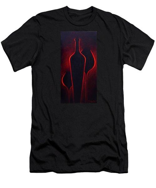 Wine Glow Men's T-Shirt (Slim Fit) by Sandi Whetzel