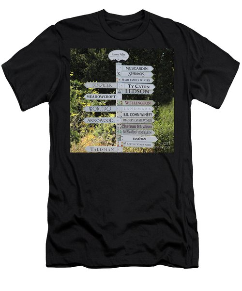 Winery Street Sign In The Sonoma California Wine Country 5d24601 Square Men's T-Shirt (Athletic Fit)