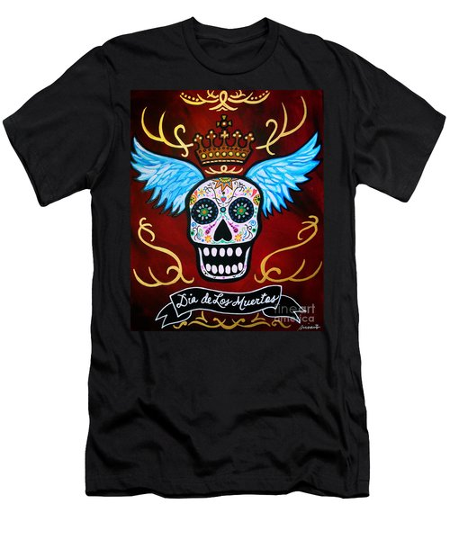 Winged Muertos Men's T-Shirt (Slim Fit) by Pristine Cartera Turkus