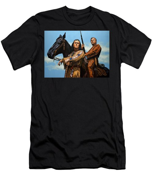 Winnetou And Old Shatterhand Men's T-Shirt (Athletic Fit)