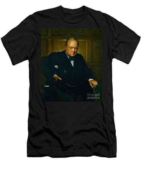 Winston Churchill Men's T-Shirt (Slim Fit) by Adam Asar